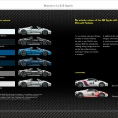 Porsche 918 : la brochure commerciale disponible au Mondial de Paris