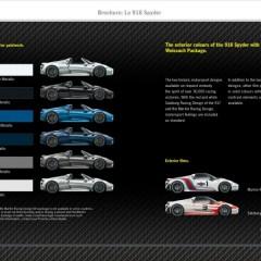 Porsche 918 : la brochure commerciale disponible au Mondial de Paris