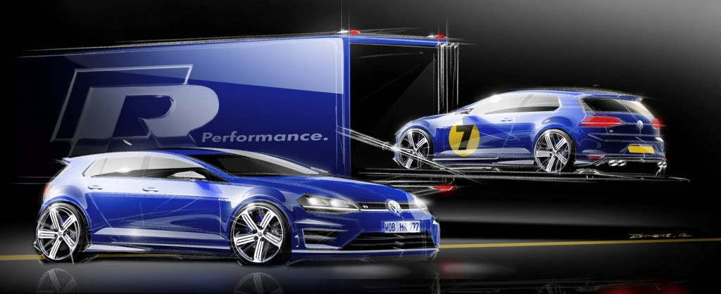 VW Golf R draft