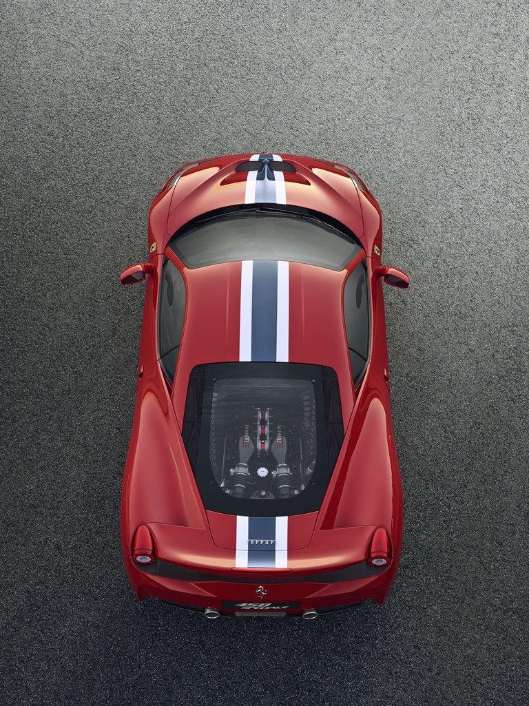 Ferrari 458 Speciale dessus stripping bandes