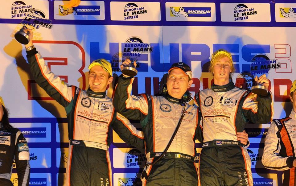 Hartley/Hirschi - podium 3 heures du Castellet ELMS 2013