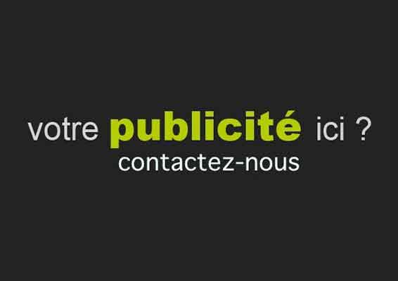 Votre espace publicitaire ici, contactez nous ! Your advertising space here contact us !