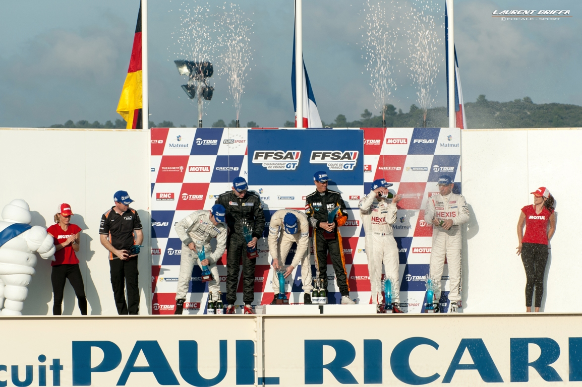 Podium course 1 FFSA GT