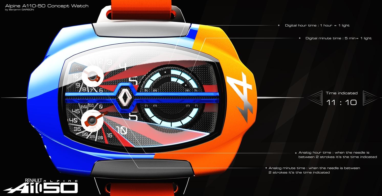 Alpine A110-50 Concept Watch – Benjamin Garson