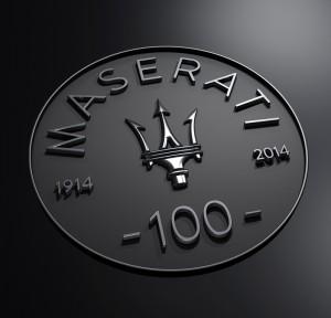 Maserati 100 ans logo anniversaire
