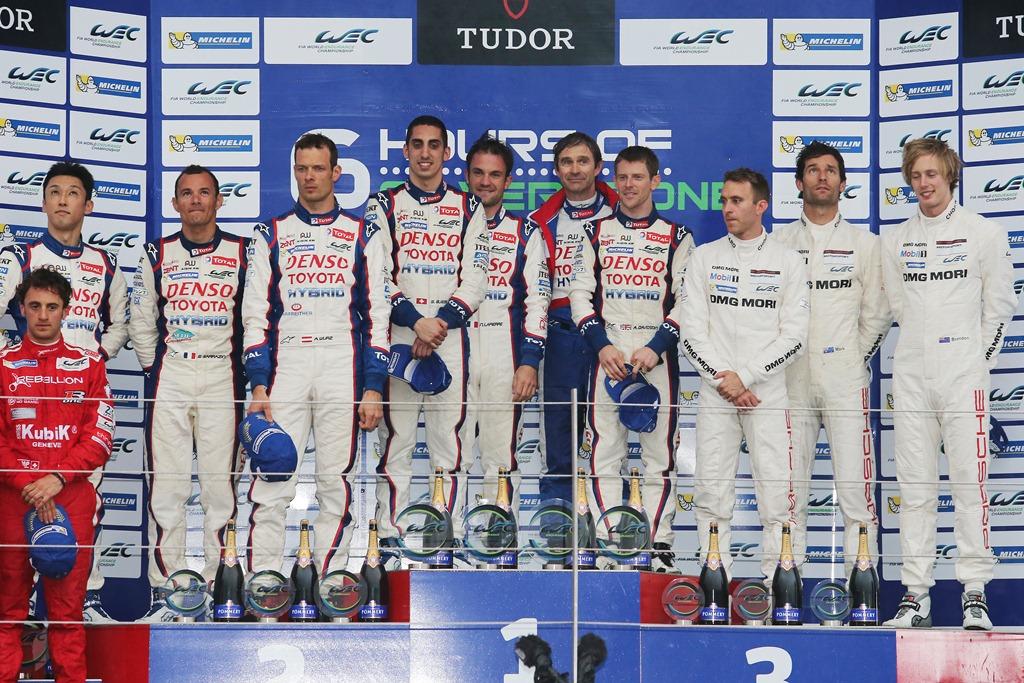 World Endurance Championship - Silverstone 2014 - Podium LMP1
