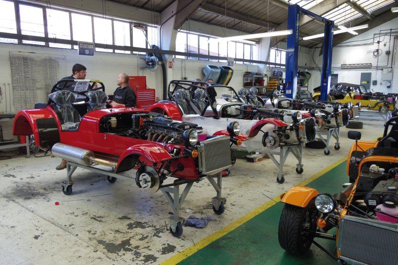 Visite usine Caterham à Dartford