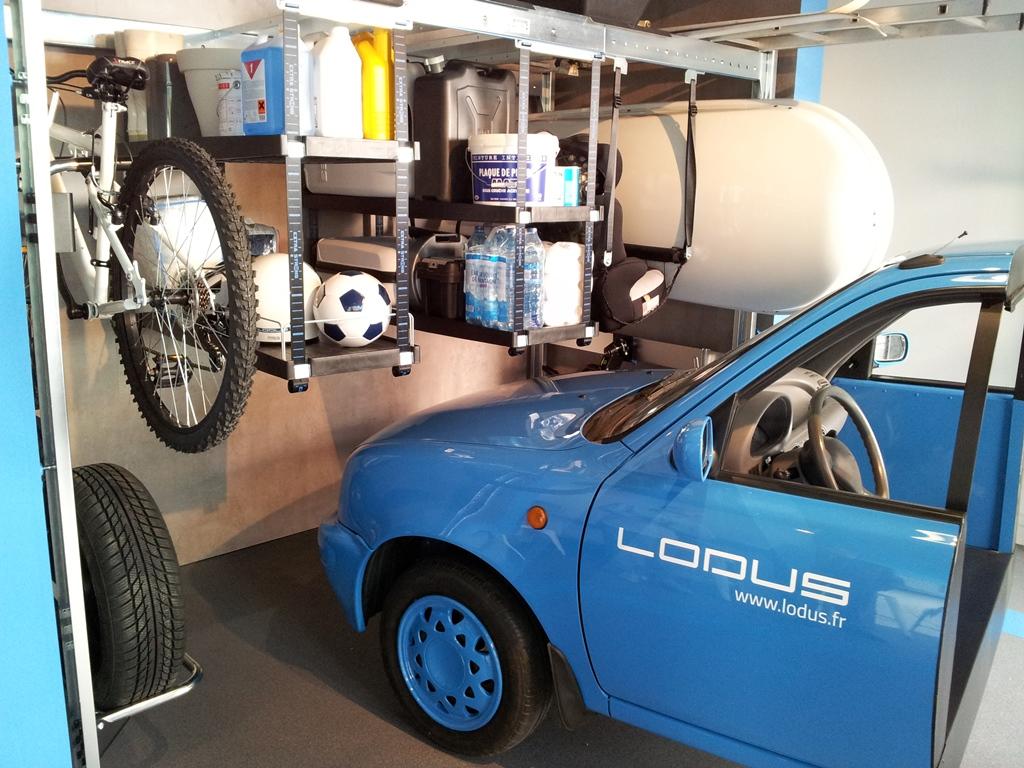 lodus 6 m3 de rangement modulable pour garage. Black Bedroom Furniture Sets. Home Design Ideas