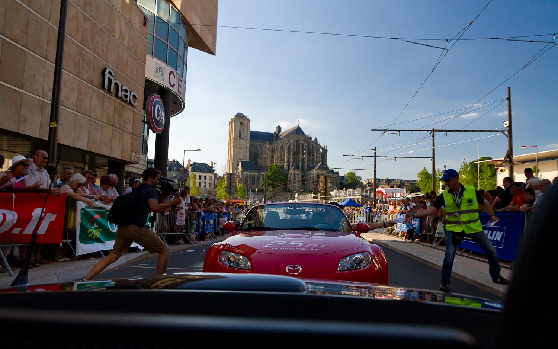 25 ans de la Mazda MX-5 aux 24 Heures du Mans 2014 - Parade des pilotes