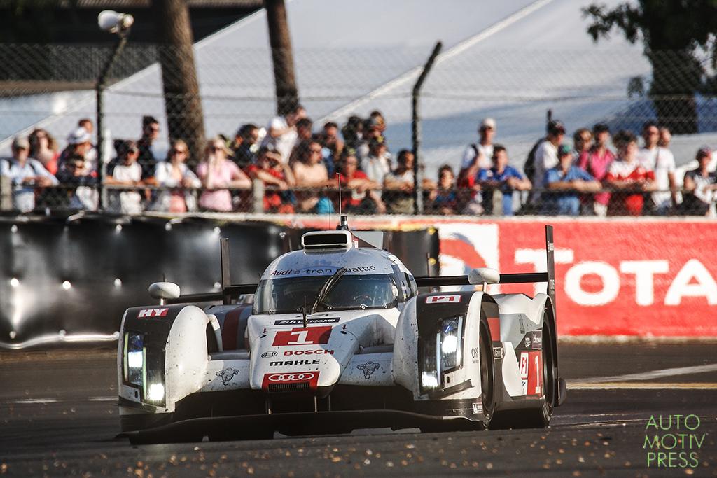 Audi R18 e-Tron Quattro n°1 - 24 Heures du Mans 2014 - Course - DI GRASSI / GENÉ / KRISTENSEN