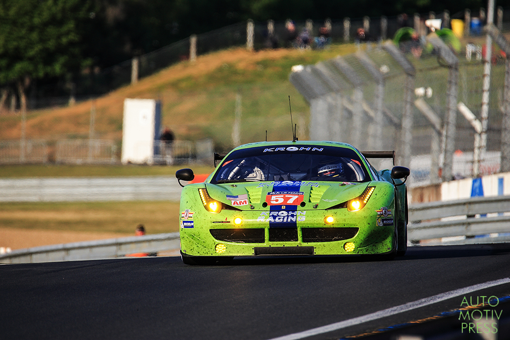 Ferrari 458 Italia n°57/Krohn Racing - 24 Heures du Mans 2014 - Course - KROHN / JÖNSSON / COLLINS