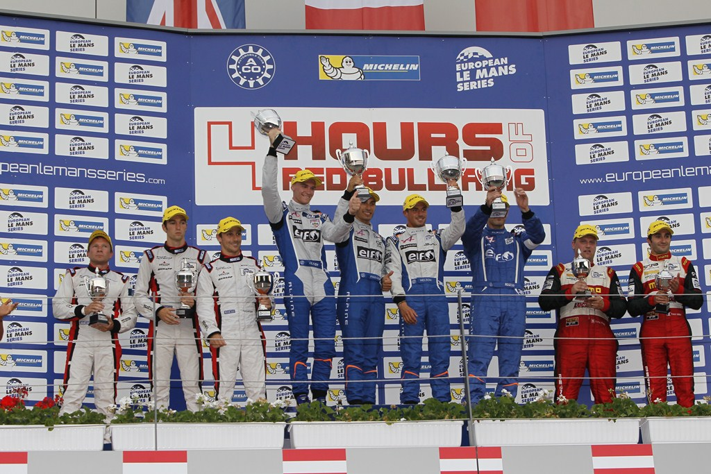 ELMS European Le Mans Series, 4 Heures Red Bull Ring - Podium LMP2