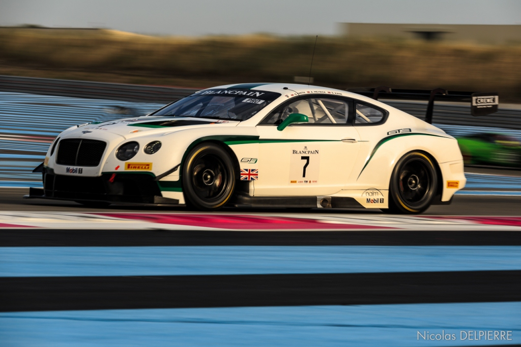 Blancpain Endurance Series - Le Castellet Paul ricard - Bentley Continental GT3 n°7 Smith-Meyrick-Kane