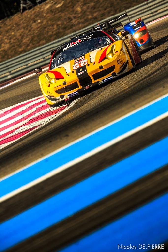 ELMS au Castelet Paul Ricard 2014 - Ferrari F458 Italia JMW Motorsport de McKenzie, Richardson et Walker