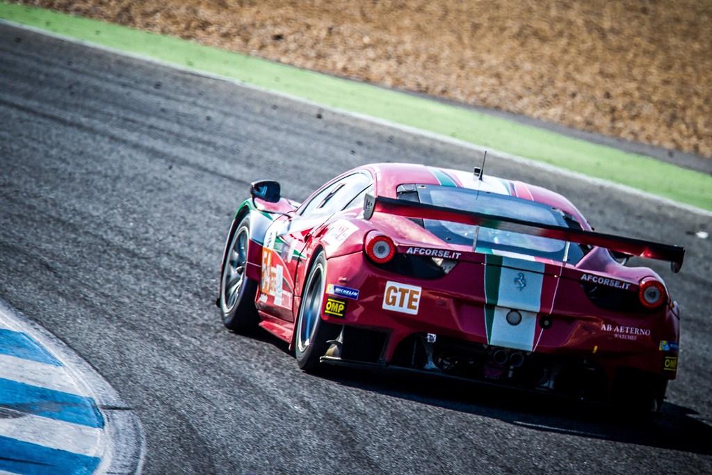 Piergiuseppe Perazzini (ITA) / Marco Cioci (ITA) / Michael Lyons (GBR) drivers of car #54 AF CORSE  (ITA) Ferrari F458 Italia – 4 Hours of Estoril at Circuito Estoril – Cascais – Portugal