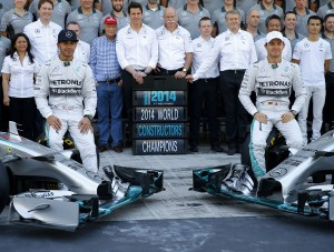Lewis Hamilton & Nico Rosberg - Mercedes AMG F1 - Abu Dhabi 2014