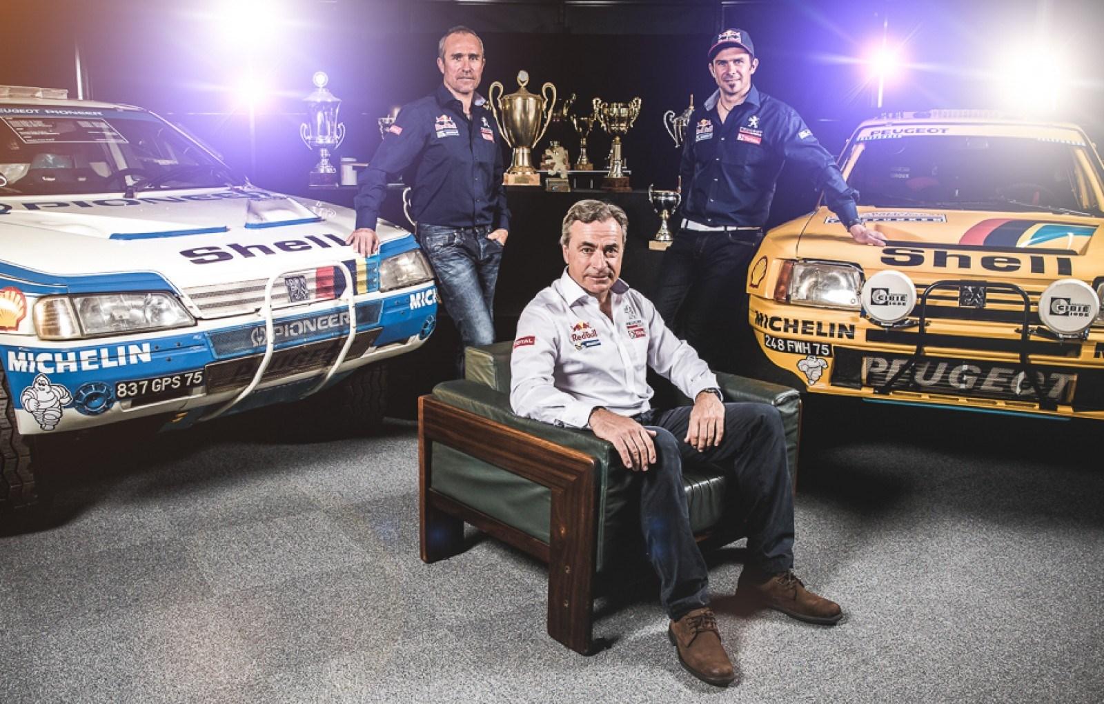 Peugeot Dakar 2015 - Cyril Depres, Stephane Peterhensel et Carlos Sainz