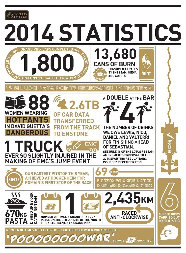 Infographie Lotus F1 Team - Saison Formule 1 2014