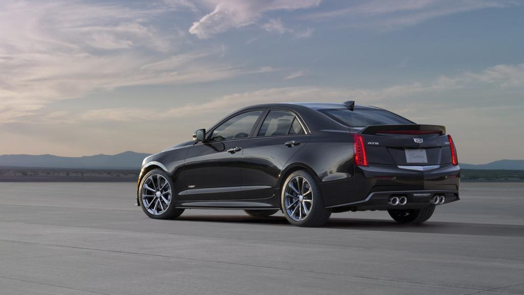 The Cadillac ATS-V sedan arrives track-capable from the factory next spring, powered by the first-ever twin-turbocharged engine in a V-Series. Rated at an estimated 455 horsepower (339 kW) and 445 lb-ft of torque (603 Nm), the 3.6L V-6 is the segment?s highest-output six-cylinder and enables 0-60 performance of less than 4 seconds and a top speed of more than 185 mph.