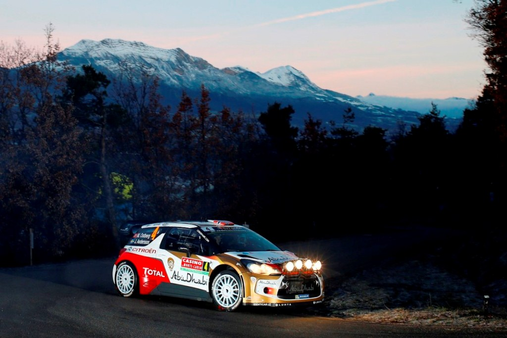 MOTORSPORT – WORLD RALLY CAR CHAMPIONSHIP 2014 – MONTE CARLO RALLY  – MONACO / GAP / MONACO 16 TO 19/01/2014 – PHOTO: CITROEN RACING /AUSTRAL OSTBERG Mads – ANDERSSON Jonas – ABU DHABI CITROEN TOTAL WRT (FRA)- ACTION