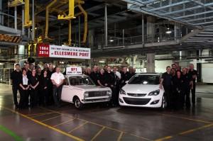 Vauxhall fête les 50 ans de son usine d'Ellesmere Port - 2014