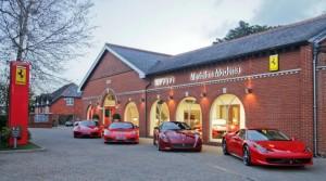 Le Showroom Ferrari de l'année 2014 - concession Meridien Modena - Lyndhurst (Angleterre)