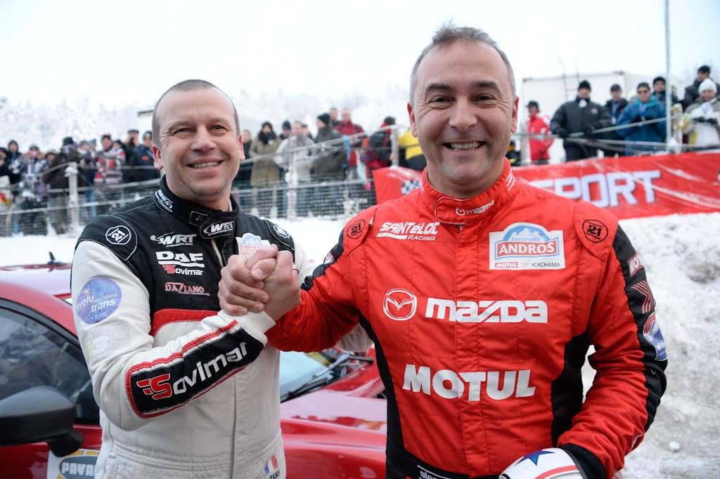Olivier Panis et Jean Philippe Dayrault - Trophée andros Lans en Vercors 2014-2015