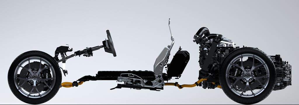 NSX Powertrain – Side View