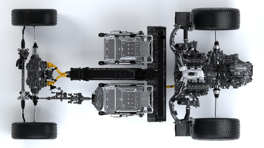 NSX Powertrain – Top View