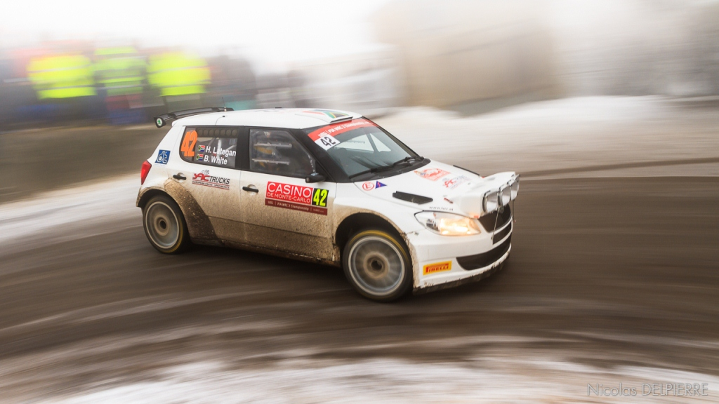 Rallye Monte-Carlo 2015 - B. White - Skoda Fabia 2000
