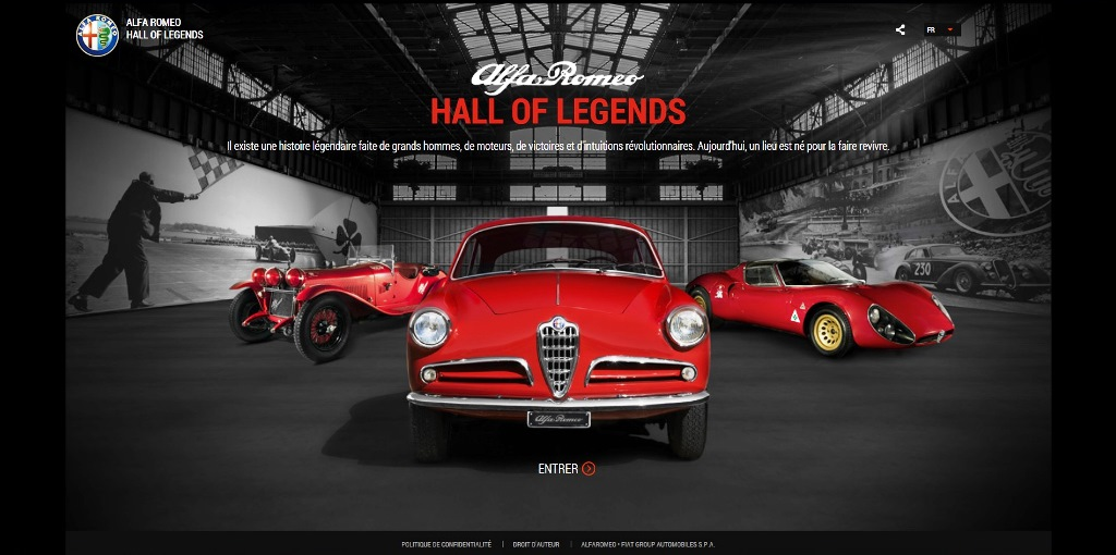 Alfa Romeo, musée virtuel, Hall of Legends
