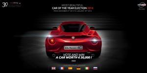 Élection de la plus belle voiture de l'année 2014