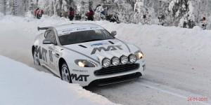 Une Aston Martin de Rallye R-GT
