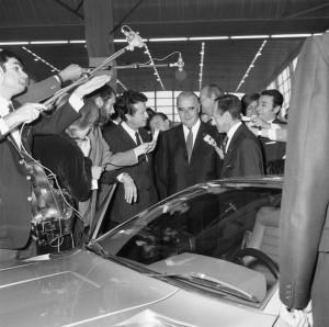 60 ans d'Alpine à Rétromobile - Jean Rédélé & Georges Pompidou