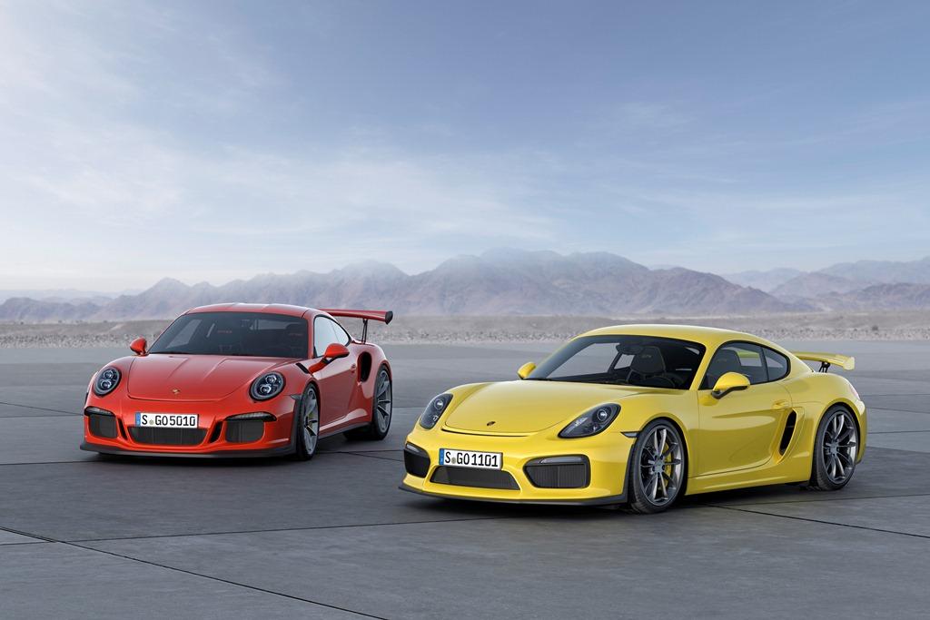 Porsche 911 GT3 RS a Cayman GT4