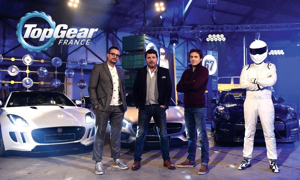 Top Gear France - Le Tone , Philippe Lellouch, Bruce Jouanny et le Stig