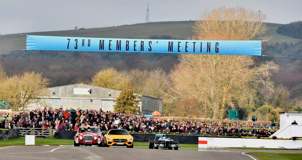 Goodwood 73 MM : La démonstration Merceries - F1 W04 2013 - AMG GT S - 300 SEL W190
