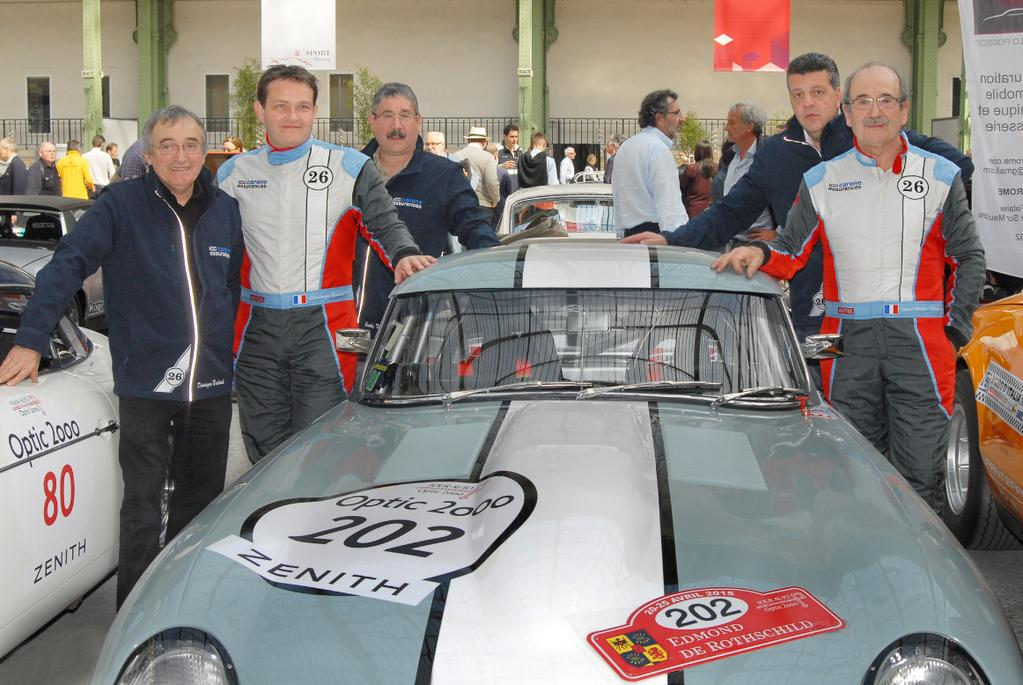 Tour Auto 2015 - Droite :  JP. Lajournade - V. Aubry / Gauche : J. Tirot -  Ch. Bouchet - D. Bachard