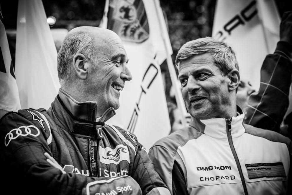 6 Heures de Spa-Francorchamps FIA WEC 2015 - Dr W. Ulrich (Audi) et Fritz Enzinger (Porsche)