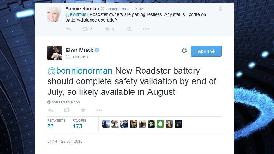 Tesla Roadster 3.0 Elon Musk tweet 2015 04 23