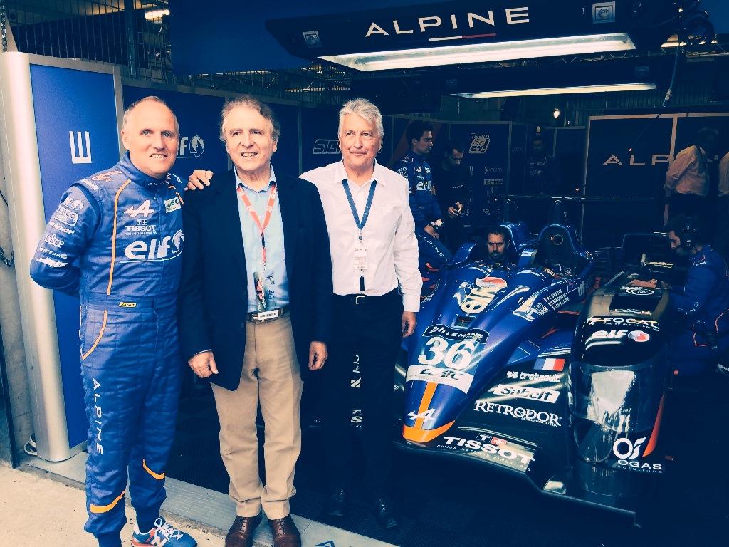 Tissot Alpine 24 Heures du Mans 2015 - Philippe Sinault (Signatech-Alpine) / Francois Thiebaud (Tissot) / Bernard Olivier (Alpine)