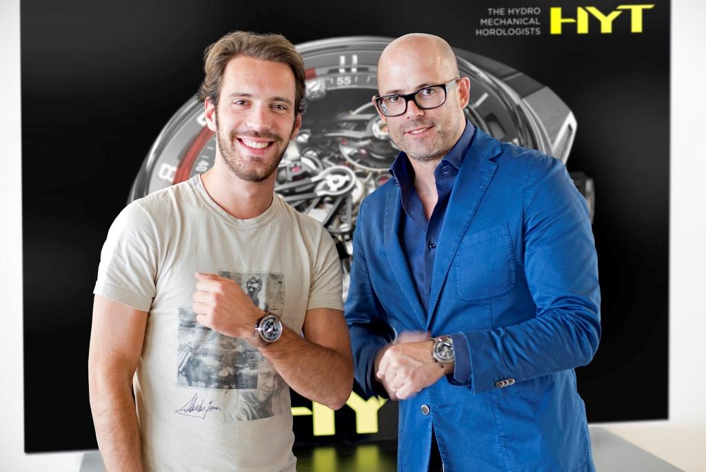 Jean-Eric Vergne et Vincent Perriard, CEO de HYT