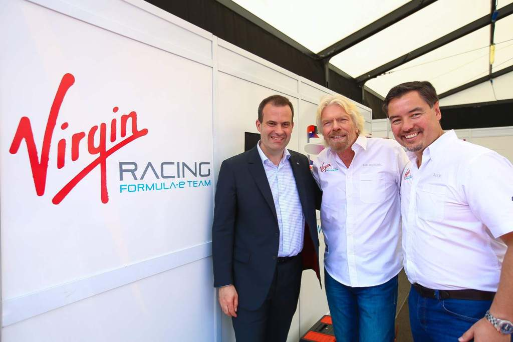 DS brand CEO Yves Bonnefont Richard Branson & Virgin Racing Team Principal Alex Tai