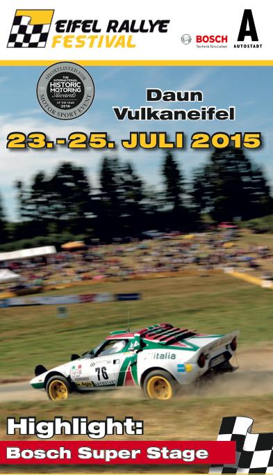 Retrouvez nos articles sur l'Eifel Rallye Festival 2015 / See our articles on the Eifel Rallye Festival 2015