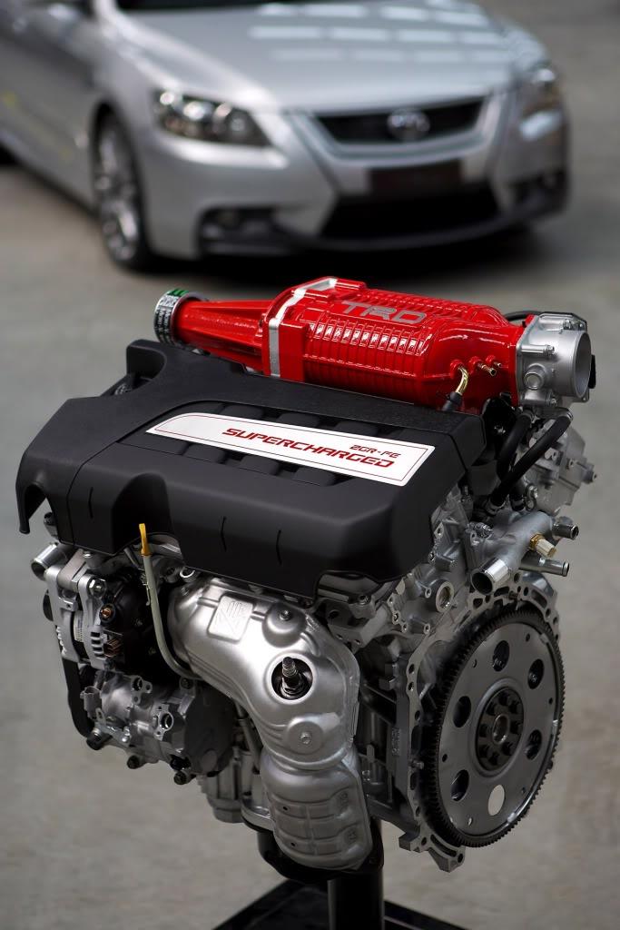 2007 TRD Aurion supercharged 3.5-litre V6 engine
