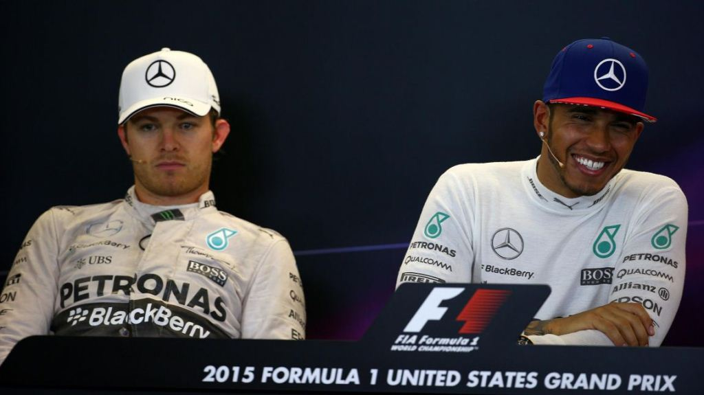 F1 GP USA Austin 2015 conference presse après course Hamilton Rosberg