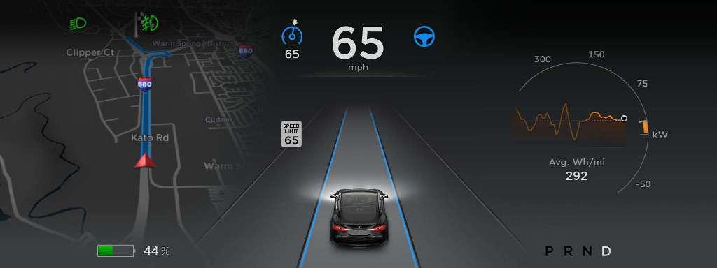 Tesla mode Autopilot v7