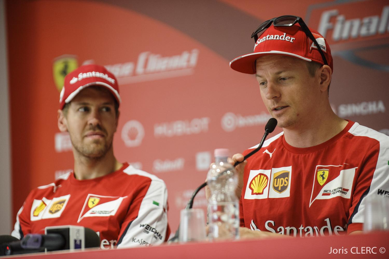 Ferrari Finali Mondiali 2015 - Kimi Räikkönen et Sebastien Vettel