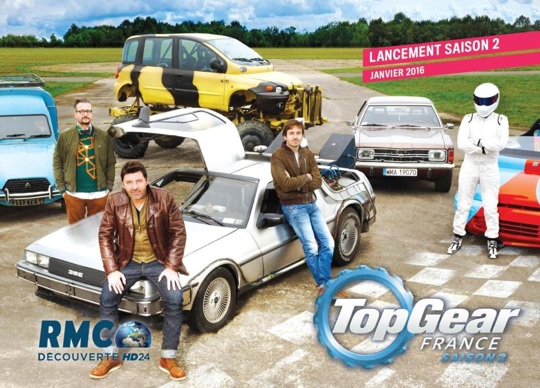 top gear france en route pour la saison 2. Black Bedroom Furniture Sets. Home Design Ideas