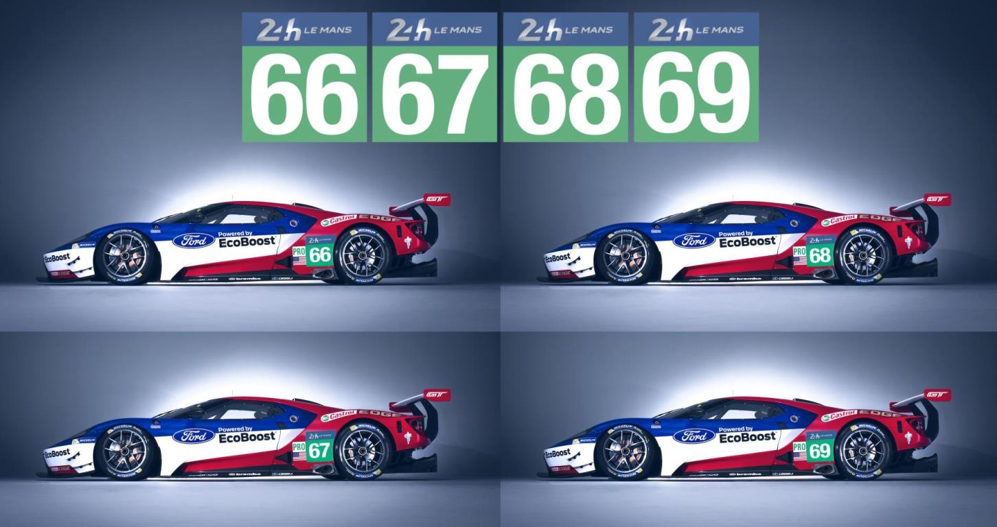 Ford GT numbers Le Mans 2016